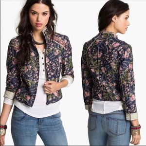 Fall floral 100 cotton anthropology jacket